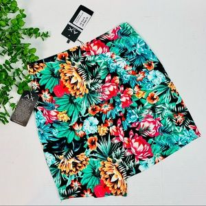 NWT Armani Exchange Paris Tropical Wrap Skirt